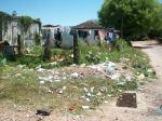 Frente de uma residência da comunidade.